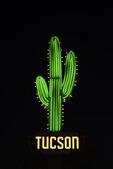 Saguaro neon icon, Miracle Mile, Tucson, Arizona