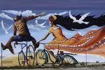 Hispanic themed mural, Tucson, Arizona