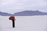 Julie walks the gypsum sands at White Sands National Park, New Mexico