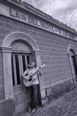 Jay play a tune in San Ignacio, Baja California, Mexico