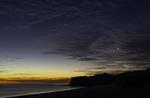 Crescent moon and sea arch, Bahia San Luis Gonzaga, Baja California Norte, Mexico