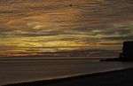 Sunrise and sea arch, Bahia San Luis Gonzaga, Baja California Norte, Mexico
