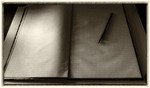 Journal and quill pen at the Magoffin adobe home, El Paso, Texas