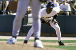 Barry Bonds takes a lead off first base in Spring Taining, Scottsdale, Arizona