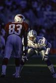 Deion Sanders, Dallas Cowboys cornerback, playing against the Arizona Cardinals, Tempe, Arizona