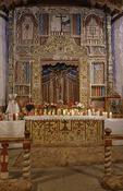 Altar and retablo of the Santuario de Chimayo, Chimayo, New Mexico