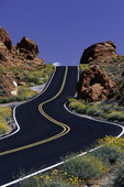 Highway in Valley of Fire State Park, Nevada