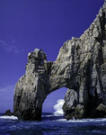 Breaking wave near El Arco, the great sea arch at Land's End, Cabo San Lucas, Baja California Sur;, Mexico