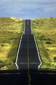 Highway 264 mirage across Hopilands, Arizona