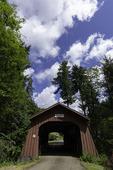 Drift Creek covered bridge, near Lincoln City, Oregon