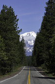 Highway to Mt. Shasta, California