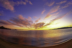 Winter sunrise over Bahia San Luis Gonzaga, Baja California Norte, Mexico