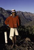 Tarahumara man, on the road to Batopilas, Copper Canyon region, Mexico