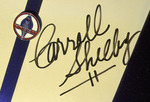 Carroll Shelby's signature adorns a Cobra Jet Mustang, at the Barrett Jackson Auto Auction, Scottsdale, Arizona