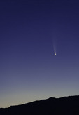 Comet Neowise streaks over the Matzatzal Mountains northeast of Phoenix, Arizona