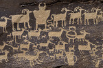 The 'Great Hunt' petroglyph panel, Nine-Mile Canyon, Utah