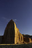 Temple of the Sun and Moon at sunset, Cathedral Valley, Capitol Reef National Park, Utah
