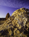 Glass Mountain and Temple of the Sun at sunrise, Cathedral Valley, Capitol Reef National Park, Utah