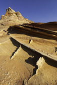 Variety of eroding sandstone forms at Coyote Buttes South, Vermillion Wilderness, Arizona