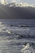 Surfing at Hookipa Beach Park, Paia, Maui, Hawaii