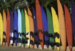 Surfboard fence, Paia, Mauiu, Hawaii