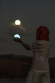 Julie and the Blue Moonrise over Maui, Hawaii