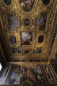 Paintings inside the Doge's Palace, San Marcos, Venice, Italy