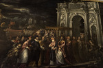 Painting of King Henry visiting from France, inside the Doge's Palace, San Marcos, Venice, Italy