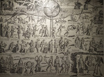 Poster of Hell's punishments, in the belltower of Chioggia, Venice, Italy