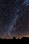Stars trail for 42 minutes above Baboquivari Peak, Arizona