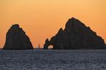 Sailing by El Arco at sunset, Cabo San Lucas, Baja California Sur, Mexico