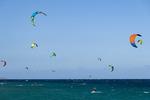 Kite surfing off Los Barriles, Baja California Sur, Mexico