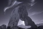Lone Pine Peak through Boot Heel Arch from the Alabama Hills, California