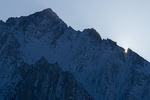 Lone Pine Peak at sunset, from the Alabama Hills, California