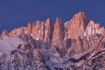 Mt. Whitney predawn, from the Alabama Hills, California