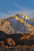 Lone Pine Peak at sunrise, from the Alabama Hills, California