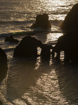 Sea arches, Mendocino County, California