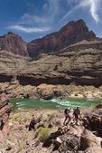 Colorado River vista from atop the Tapeats layer, above Deer Creek Falls, Grand Canyon National Park, Arizona