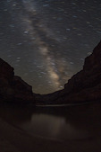Milky Way over Colorado River, from Big Dune Camp, Grand Canyon NP, Arizona
