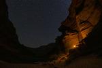 Stars over Big Dune camp, by the Colorado River, Grand Canyon NP, Arizona