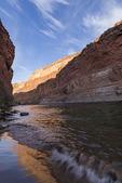Morning light on a beach near Silver Grotto  Colorado River in Grand Canyon National Park, Arizona