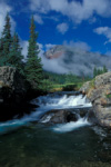 Waterfall and mountain, South Fork Mineral Creek