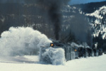 Rotary snowplow OY clearing the tracks, Cumbres & Toltec Scenic Railroad