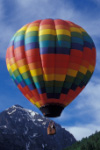 Hot-air balloon with Ballard Mountain,  Telluride Invitational Balloon Rally