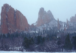 Spring snowstorm, Garden of the Gods, Colorado Springs, Colorado
