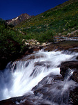 Waterfall on the South Fork Mineral Creek, San Juan National Forest, Colorado