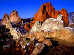 Morning light on South Gateway Rock and Gray Rock, Garden of the Gods, Colorado