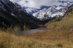 Fall season and Maroon Bells, White River National Forest, Colorado