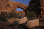 View of the South Window, Winter season, Arches National Park, Utah