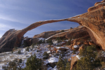 Landscape Arch with Winter snow, Arches National Park, Utah